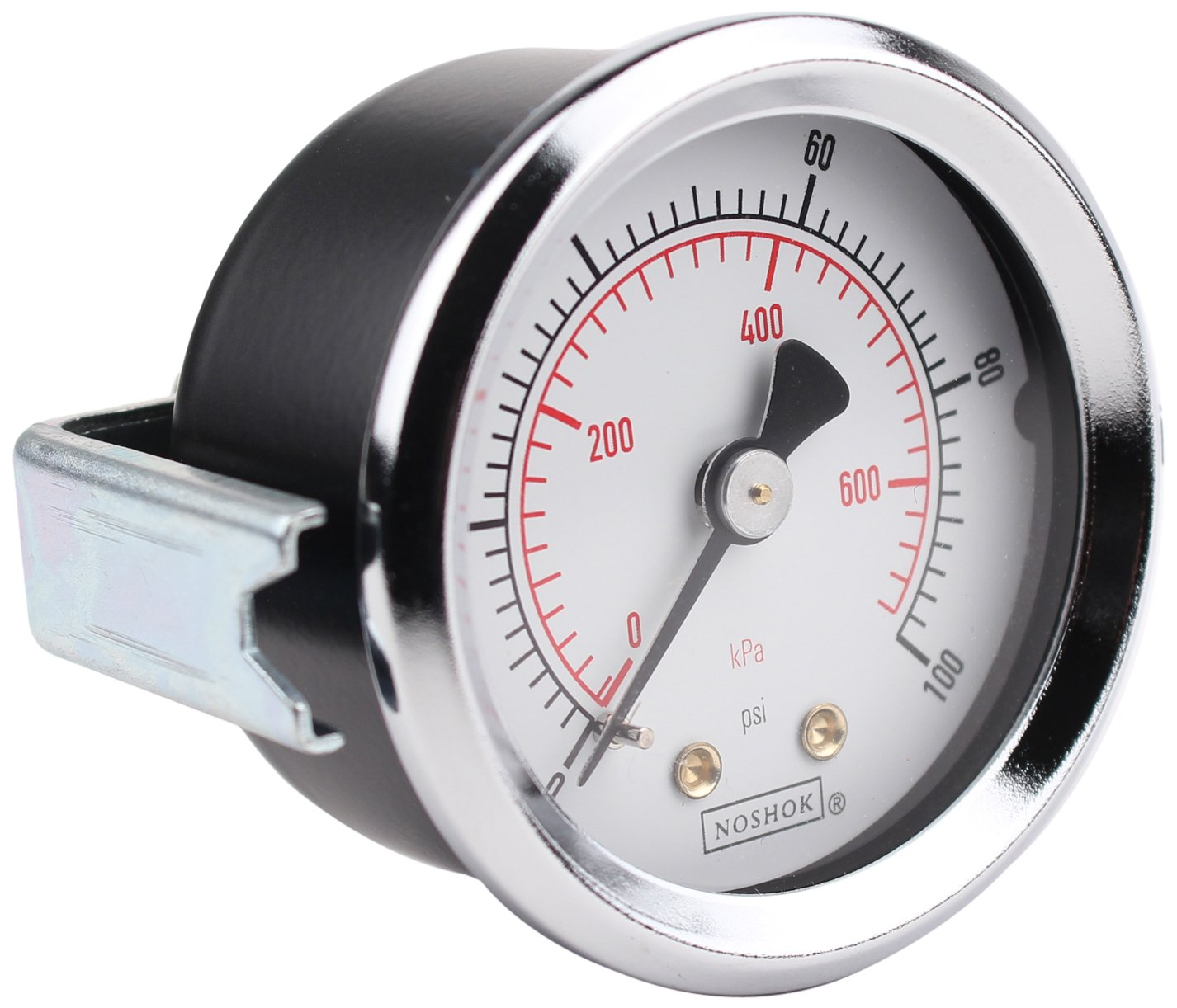 NOSHOK 100 Series ABS Dual Scale Dial Indicating Pressure Gauge with Back Mount 25-110-60-psi//kPa +//-2.5/% Accuracy 2-1//2 Dial 0-60 psi Pressure Range 2-1//2 Dial Inc