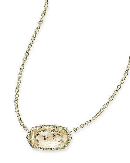 afc60d5077cd7 Amazon.com: Kendra Scott Signature Elisa Pendant Necklace in Gold ...