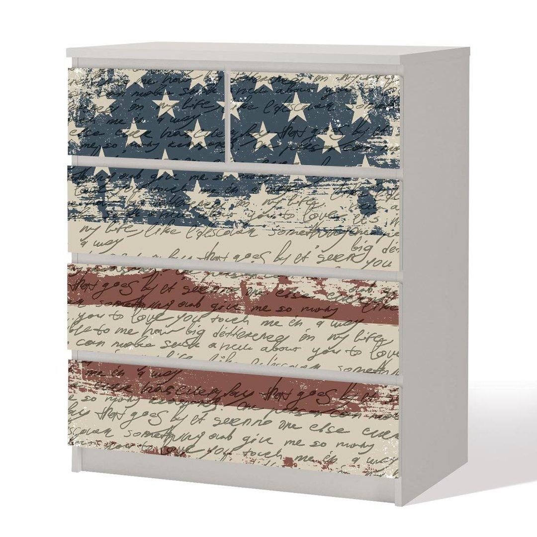 Amazon.de: Möbelfolie -- Shabby Chic USA -- Dekorfolie für Schränke ...