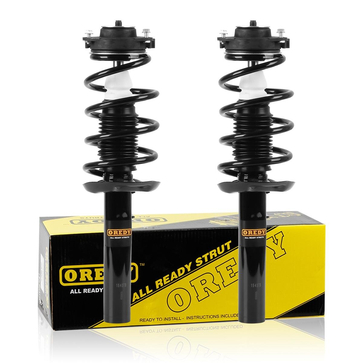 Amazon.com: OREDY Front Pair Complete Quick Struts Shock Coil Spring  Assembly Kit 172311 11060 Compatible with 2007 2008 2009 Volkswagen Jetta  Passat Gti ...