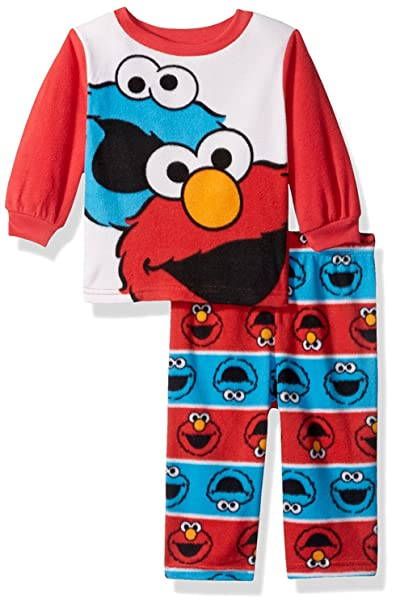 3387d60c Elmo Sesame Street and Cookie Monster (Baby/Toddler) 2 Piece Fleece Pajamas  Set Red White Blue<br>