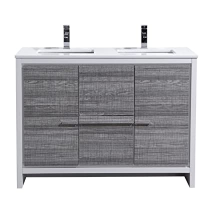KubeBath Dolce 48″ Double Sink Ash Gray Modern Bathroom Vanity with on 48 bathroom mirrors, 48 bathroom rugs, 48 bathroom vanity base only, 48 bathroom countertops, 48 bathroom lights, avanity vanities, 48 bathroom towel bar, 48 bathroom vanity white, 48 bathroom wall tile,