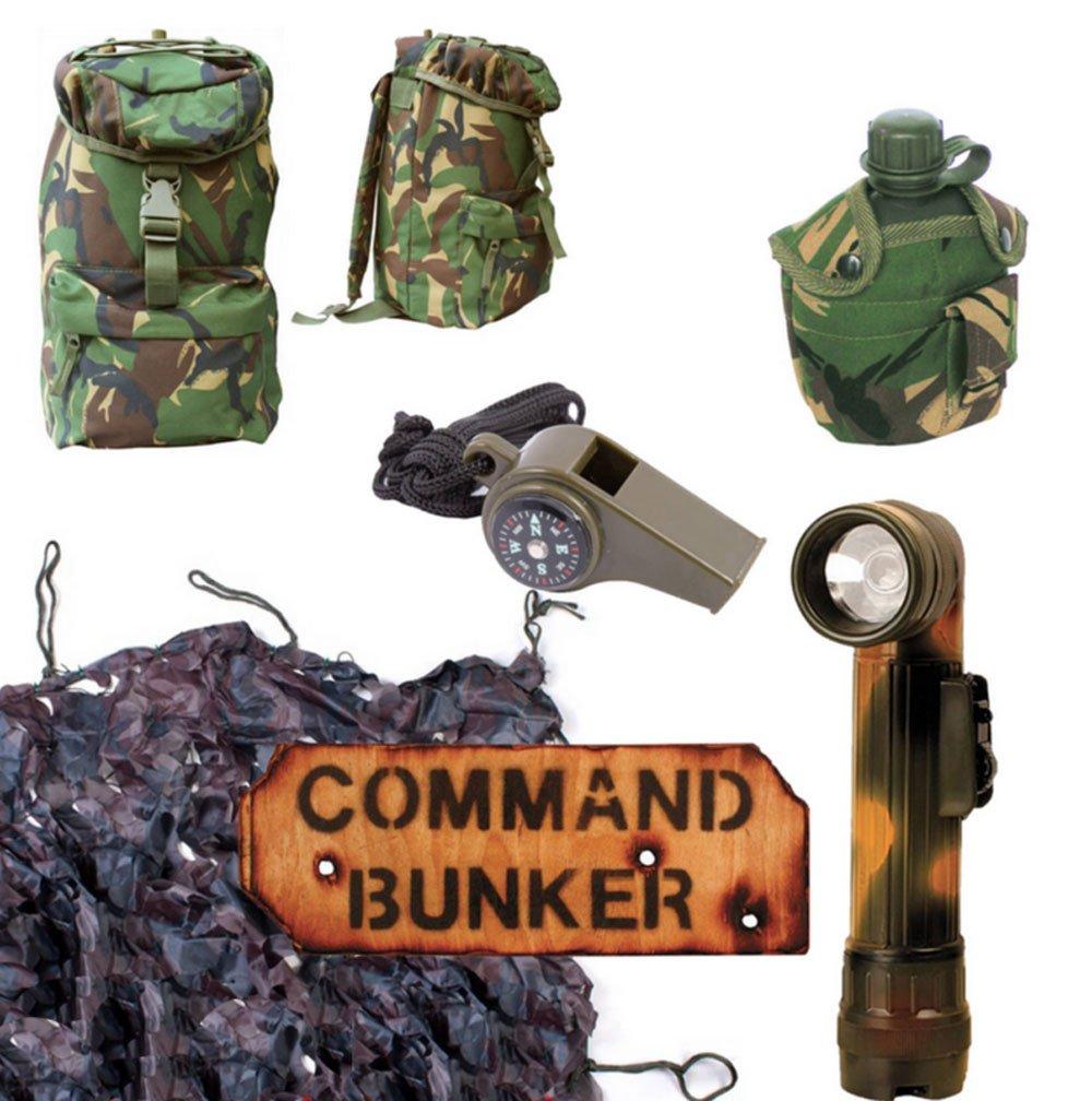 Command Bunker Army Geschenk-Set für Kinder, Tarnmuster, 95Pat