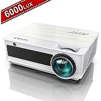 """Vidéoprojecteur, YABER Projecteur 6000 Lumens Full HD 1920 x 1080P Natif Rétroprojecteur, avec Fonction Zoom X/Y, 78,000 Heures LED 300"""" Home Cinéma Compatible Chromecast /USB /VGA /HDMI /AV"""