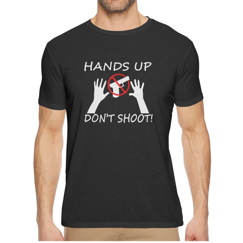 Qqppgg Hands Up Dont Shoot Men Short Sleeve Breathable Shirt