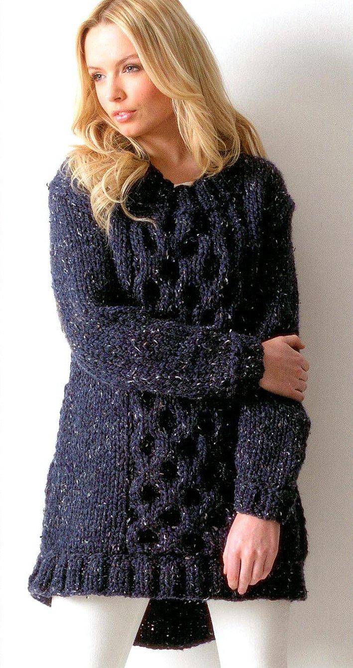 d1874c20142c3 Ladies Tunic JB114 Knitting Pattern for James C Brett Rustic Mega Chunky   Amazon.co.uk  Kitchen   Home
