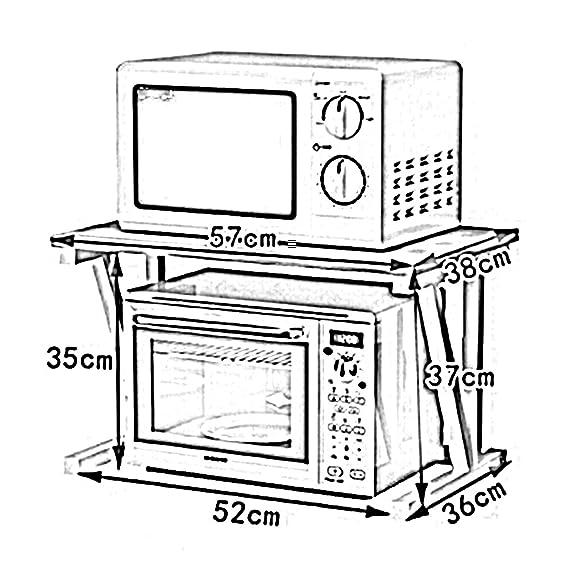 WENZHE Estantería Cocina Baldas Estufa Clasificar Horno Microondas Condimento Almacenamiento Multifunción, De Madera, 8 Colores, 57 × 38 × 37cm (Color : G): ...