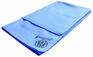 "Frogg Toggs SCP200 Super Chilly Pad Extra-Large Cooling Towel, 33"" Length x 25"" Width, Sky Blue"