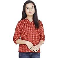 PRACHALAN Girl Cotton Red Top