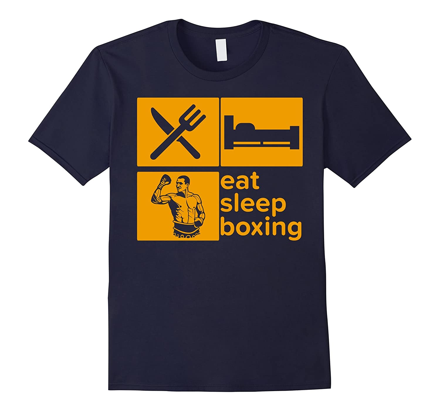 Eat Sleep Boxing Repeat Player Boxer Funny T-shirt-T-Shirt