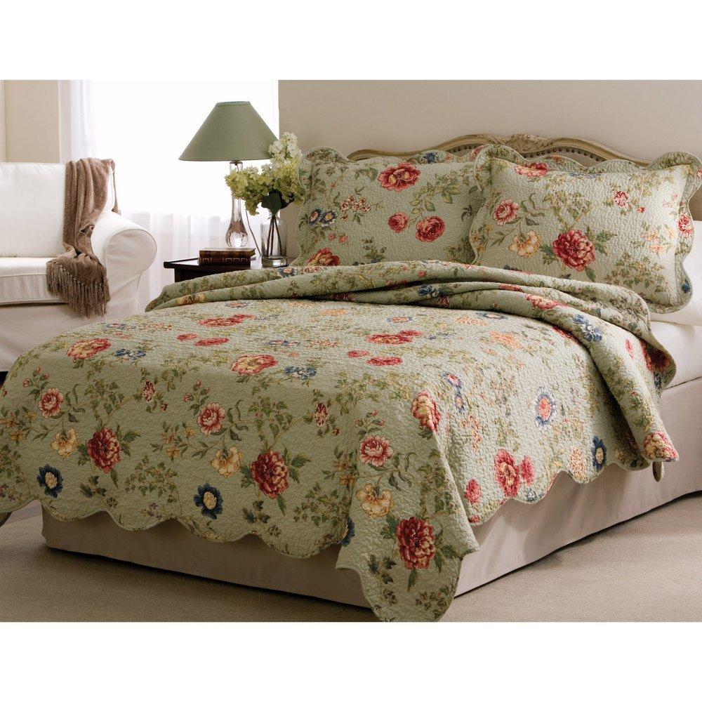 Amazon.com: Edens Garden Full / Queen Quilt with 2 Shams: Home & Kitchen
