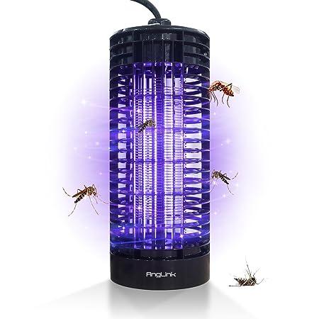 AngLink Lámpara Anti-Mosquitos, LED Lámpara Anti Mosquitos Electrónica 6W, 365 Nanometros UV y Mata Mosquitos en Interior: Amazon.es: Jardín