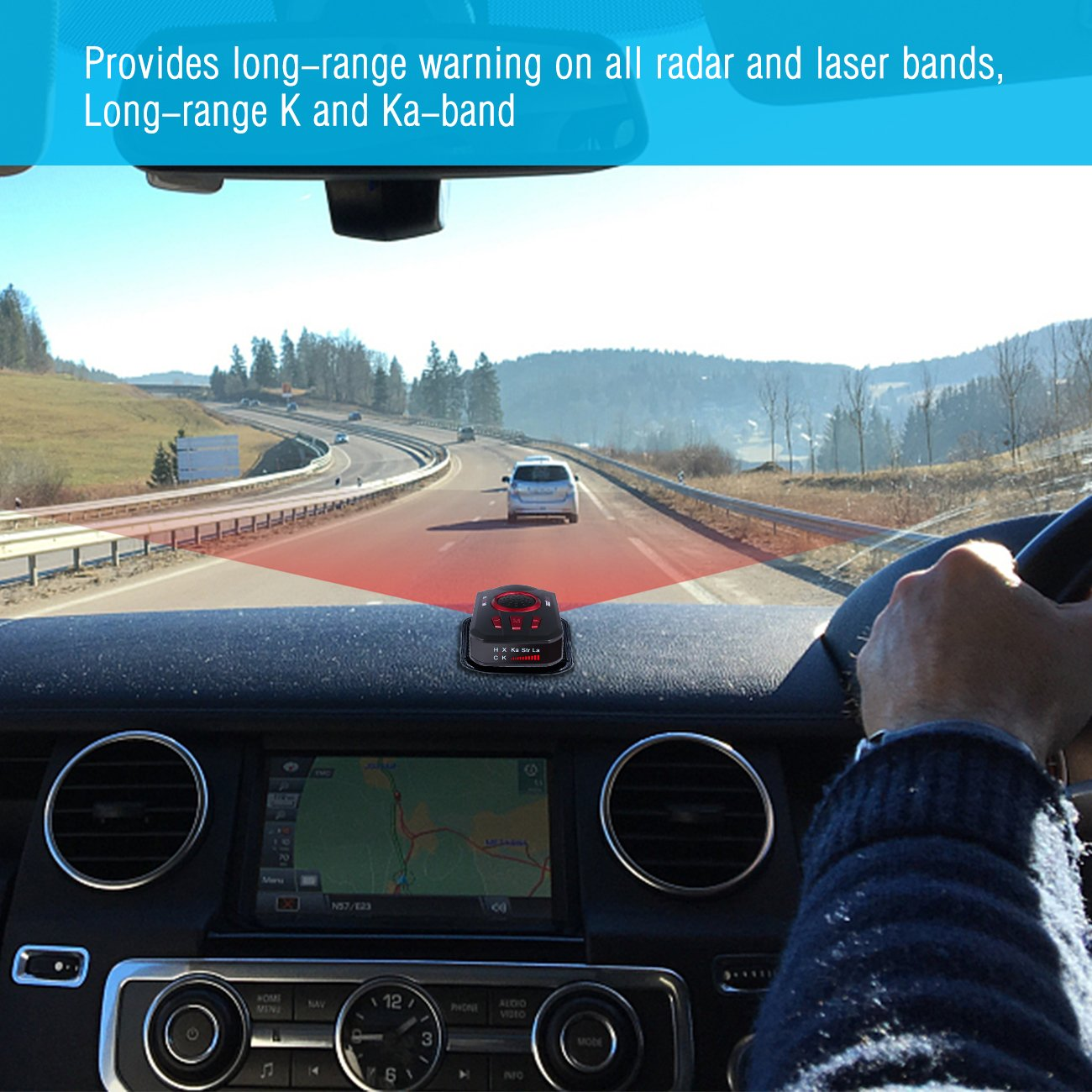 Radar Detector M8 Extreme Long Range Laser Digital Speedometer With Led Display Gps 360 Degree Dsp Voice Alert Car Electronics