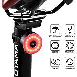 DONPEREGRINO Led Luz Trasera Bicicleta Roja 6 Horas de Iluminación con 5 Modalidades, Luces Bicicleta Luz Casco Luz Mochila Impermeable IPX 5 y Recargable USB