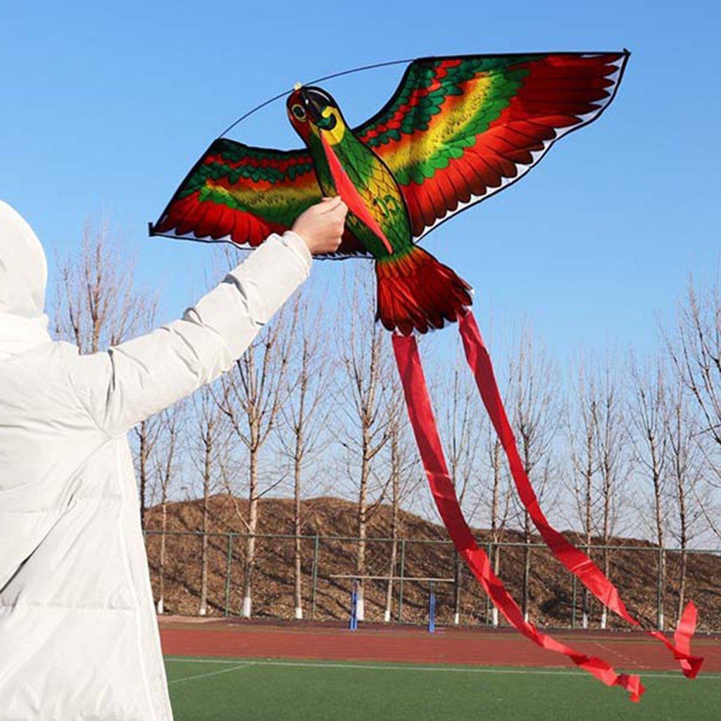 Ogquaton Parrot Kite Bird Kites Cometas al Aire Libre Flying Toys Kite para ni/ños Ni/ños