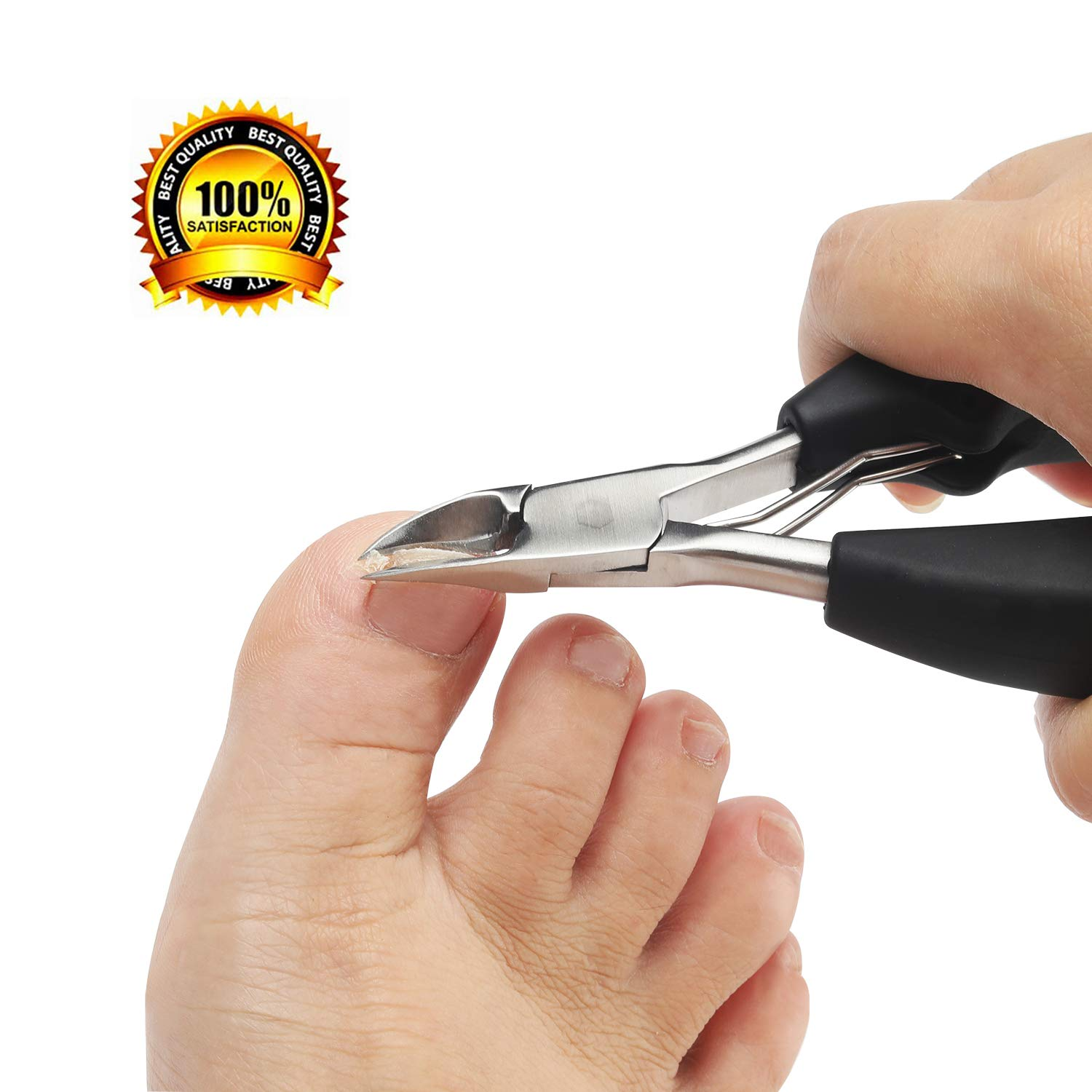 Nail Clippers Toenail Clippers for Thick Nails for Seniors with Curve Diagonal Blade for Ingrown Nails Effortlessly Toe Nail Clippers Heavy Duty Stainless Steel Physician Easy Grip for Older Hand by Leeshar Beau