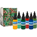 Intenze Tattoo Ink Japanese Dragon Color Series by Mario Barth 6 Bottles 1oz