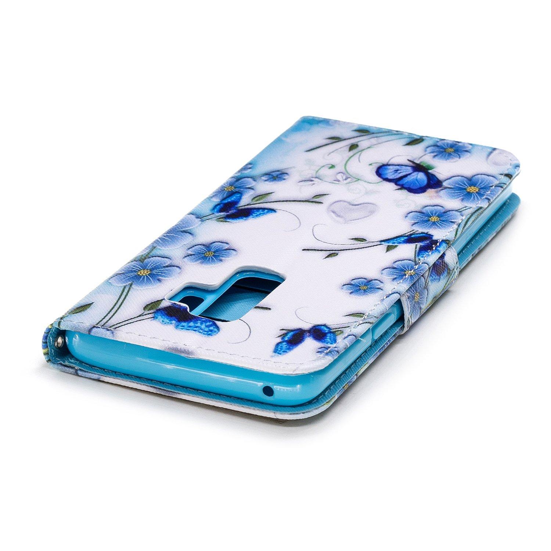 /Étui Samsung Galaxy S9 Plus Motif Lion Chat Tigre Mignon Chiens de Singe Hibou Peint Housse en Cuir Case /à avec Dragonne Rabat Coque de Int/érieure Cozy Hut Coque Samsung Galaxy S9 Plus