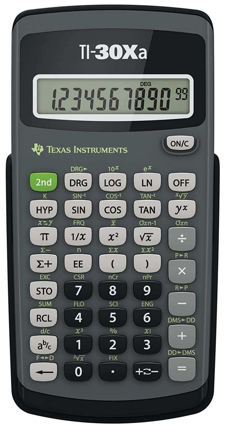 com texas instruments ti 30xa scientific calculator  com texas instruments ti 30xa scientific calculator electronics