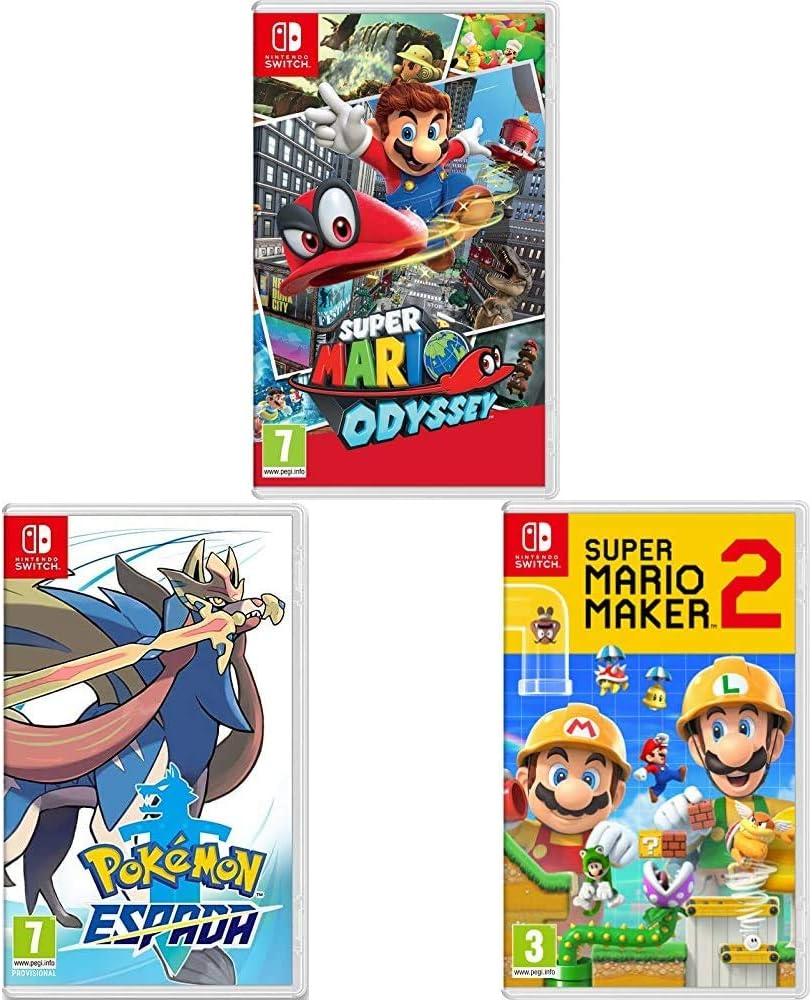 Super Mario Odyssey + Super Mario Maker 2 + Pokémon Espada ...