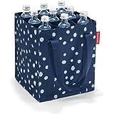 Reisenthel ZJ4044 bottlebag Flaschentasche, Polyester, Spots Navy, 24 x 28 x 24 cm
