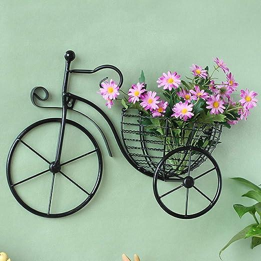 Colgante De Pared Creativo Bicicleta Soporte De Maceta Hierro ...