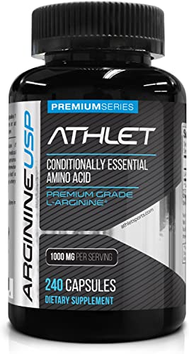 L-Arginine 1000 mg 240 Caps – High Potency Nitric Oxide Levels Boost Blood Flow Improve Energy Endurance for Men and Women