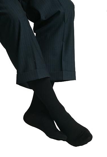 MAXAR Mens Trouser Support Socks (20-22 mmHg) Black, Small, 2