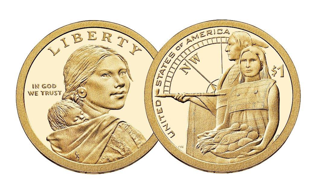 2000 P Uncirculated Sacagawea Native American Dollar  FRESH FROM BANK ROLL UNC