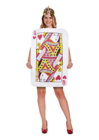 Queen OF HEARTS COSTUME PLAYING CARD FANCY DRESS FELT LADIES SIZE ...