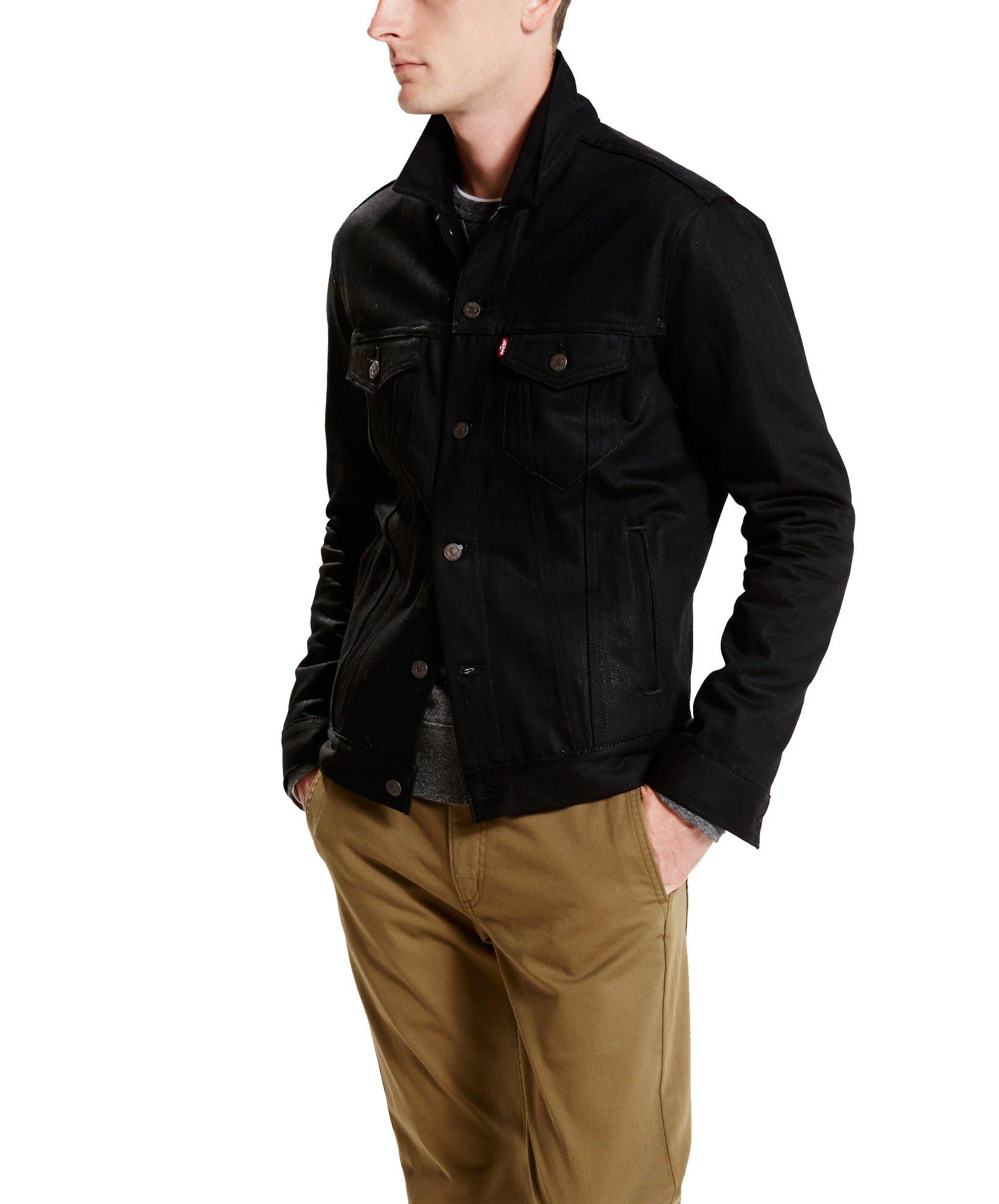 Levi's Regular Fit Trucker Jacket (Medium, Polished Black)