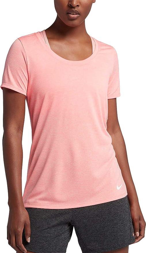 a2f755a4e Nike Women's Dry Legend Veneer Training T-Shirt (Lt Atomic Pink, X-