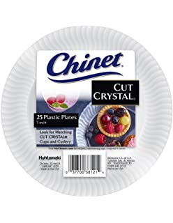 Amazon.com | Chinet Cut Crystal Clear Plastic 10 inch Plates 20 ct ...
