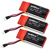 3 Genuine UDI RC 3.7V 500mAh Rechargeable Li-Po Batteries for UDI U45W Blue Jay and U45 Raven Quadcopter Drones