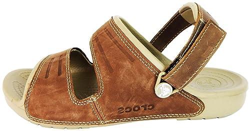 diseño hábil venta caliente online recogido Crocs Hombre Yukon 2-Strap correas sandalias de piel ...