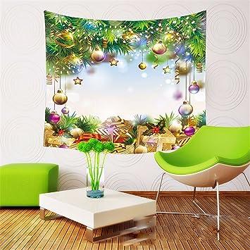 Home Dekoration Weihnachten Wandteppich Wohnzimmer Sofa Hintergrund ...