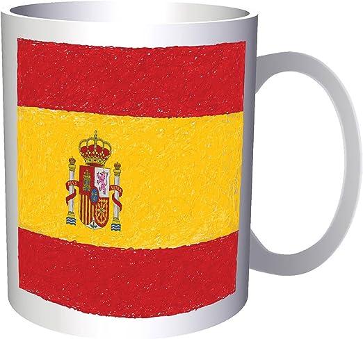 Nueva Bandera De España Arte 330 ml taza i221: Amazon.es: Hogar