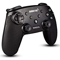 Wireless Bluetooth Controller Compatible with Nintendo Switch Pro (Black) | PC Gamepad Joypad Remote with Gyro Axis (Turbo Buttons) by EVORETRO
