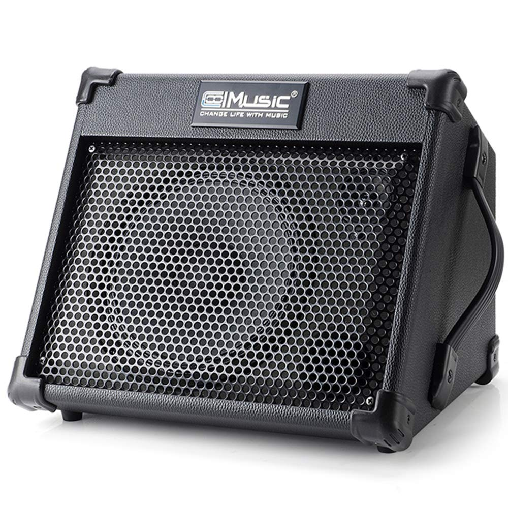 Acoustic Guitar Amplifier, 40 Watt Portable Rechargeable Amp for Guitar Acoustic with Bluetooth, 3 Channel, 3 Band EQ, Black by Vangoa