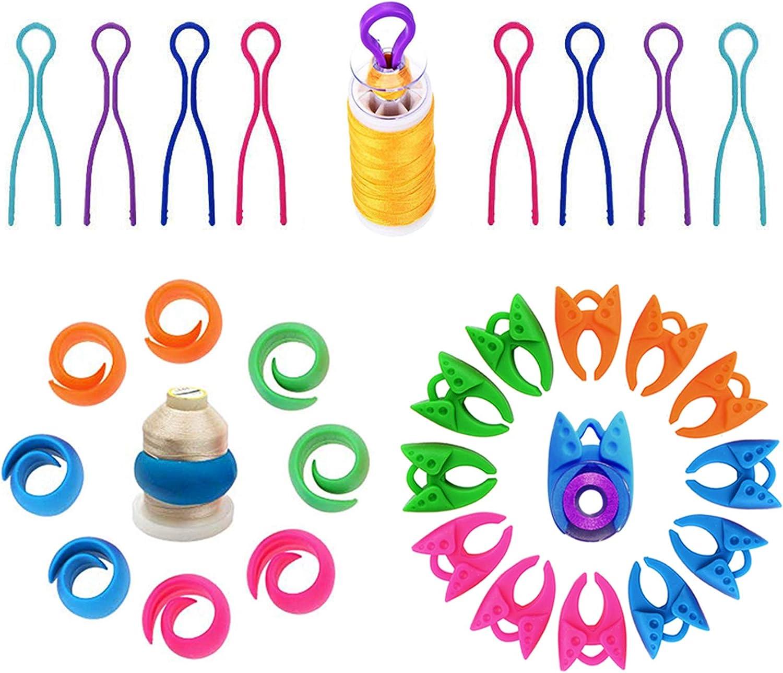 20pcs Bobbin Buddies//Bobbin Thread Clip//Bobbin Winder Keep Your Bobbin Threads Matched Up with Your Thread Spools Pink,Purple,Blue