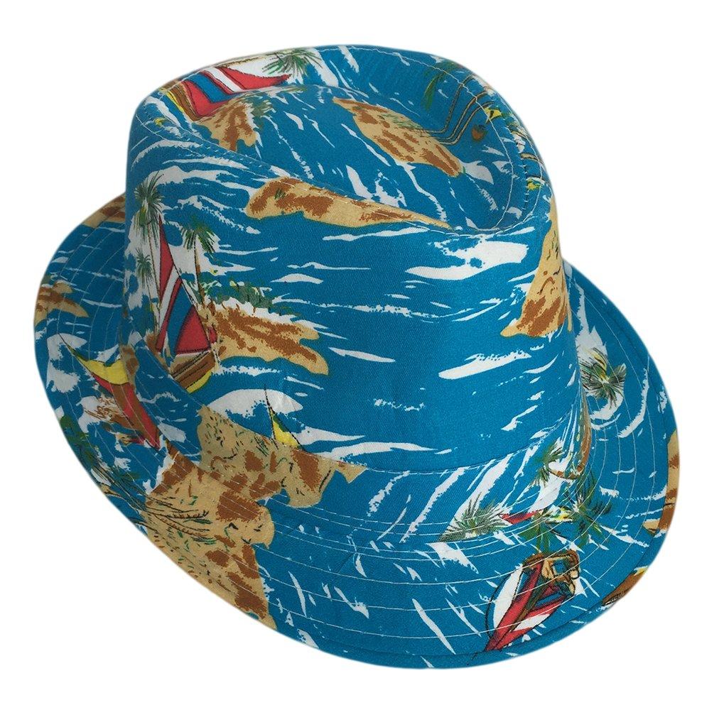 Smile YKK Unisex Couple Beach Brim Fedora Top Bucket Hat Sky Blue by Smile YKK