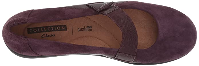 Clarks Leather Slip-on Mary Janes Medora Frost Aubergine Women/'s 12 New