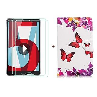 szjckj Magnetico Custodia + 2 Pezzi HD Vetro Temperato per Huawei MediaPad M5 (8,4'), Alta qualità Film Pellicola Screen Protector - Pieghevole Cover schede Copertura - LW52