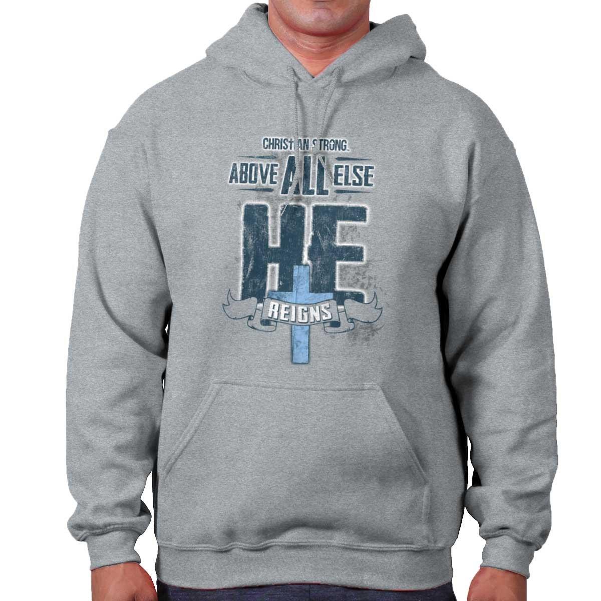 Above All Else Love Christian Shirt | Jesus Christ Faith Hope Hoodie Sweatshirt