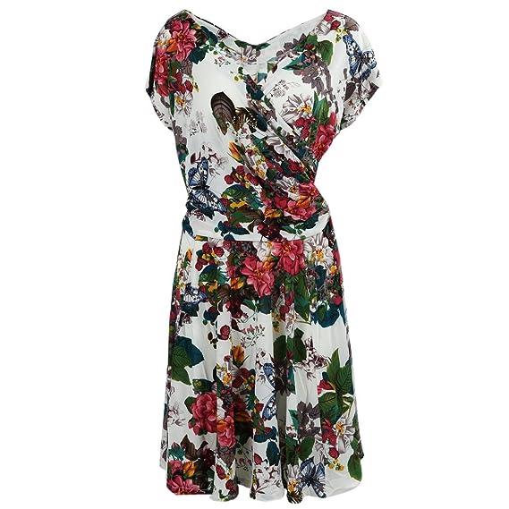 TOOGOO(R) Verano Mujer V10 Ropa de mama Vestido vintage bohemio de impresion floral