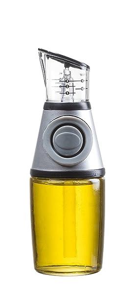 homequip 8,5 oz Bomba de aceite de oliva dispensador de cristal con vaso medidor