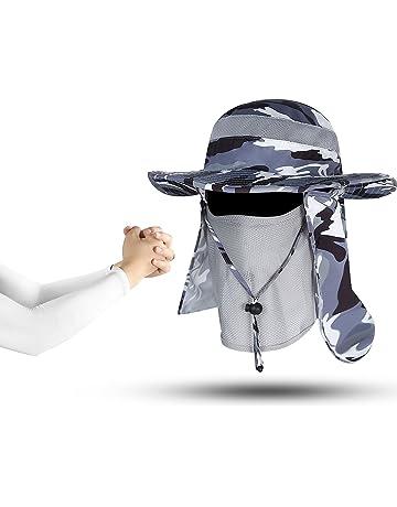 5e5e77089fabe Outdoor Boonie Sun Hat - UPF 50+ Protection Wide Brim Waterproof Cap for Safari  Fishing