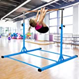 Dai&F Horizontal Gymnastics Bar for Kids,Height Adjustable Junior Training Bar,Kip Bar Ideal for Gymnasts 1-4 Levels, 300 lbs Weight Capacity