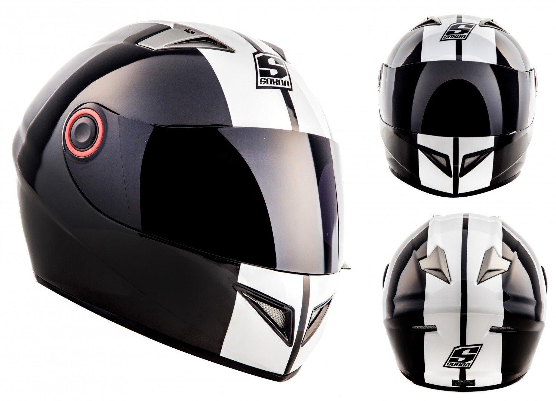 Amazon.es: SOXON ST-666 Deluxe Snow · Cruiser Urban Casco Integrale Fullface-Helmet Sport Moto motocicleta Scooter Urbano · ECE certificado · incluyendo ...