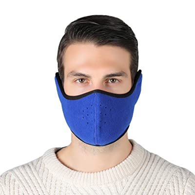 Unisex Winter Ski Mask Outdoor Protect Face Cover Earmuffs Balaclava Cycling Bicycle Motorcycle Mask (Blue): Automotive
